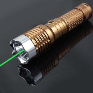 Lampe torche laser vert 200mw avec faisceau lumineux puissant - Lampe torche led militaire ...