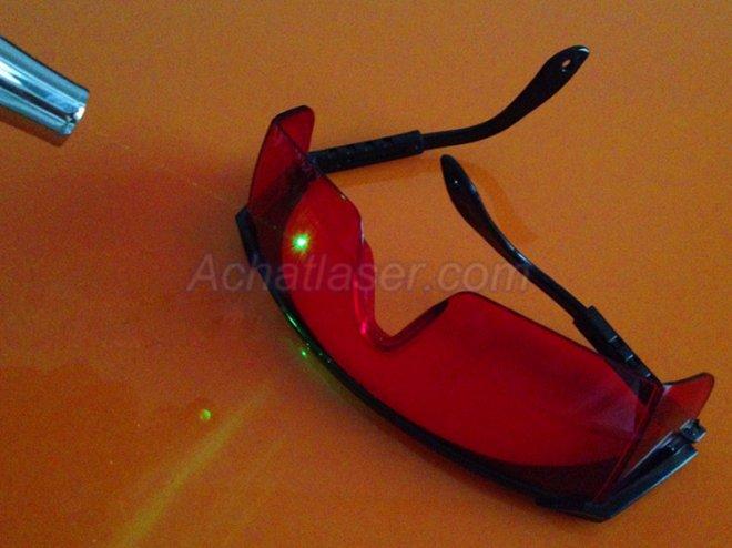 lunettes de sécurité pour pointeur laser vert