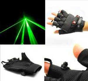 Gants Laser Vert de protection pour les quatre lasers