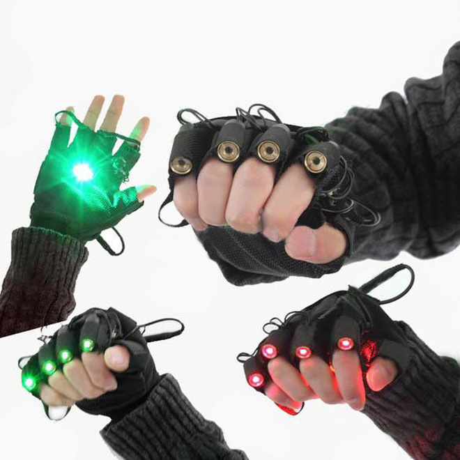 Gants laser vert