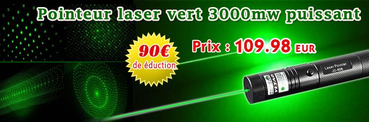 Pointeur Laser Puissant Pointeur Laser Puissant 3000mw