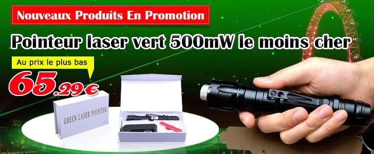 Achat pointer laser vert 500mw Classe 3b pas cher et livraison gratuite